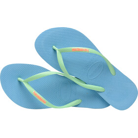 havaianas Slim Logo - Sandales Femme - bleu